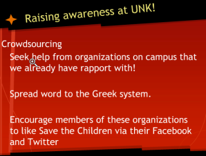 Raiseing awareness at unk